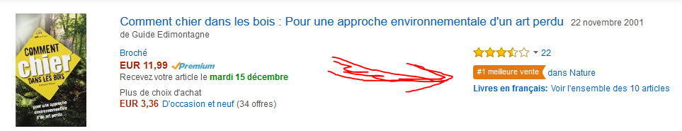 Simplement la meilleure vente Amazon du moment