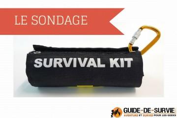 GDS - SONDAGE - Sac de survie