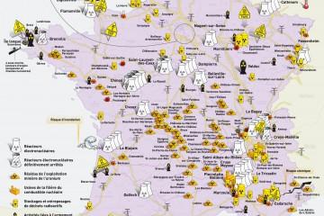 cartes des risques nucléaires en France
