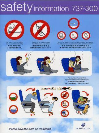 Consignes de sécurité en avion