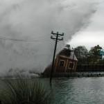 Photo d'un tsunami