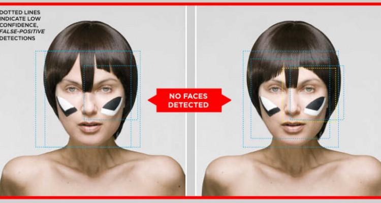 reconnaissance faciale Dazzle