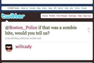 Police de boston et morsures de zombies